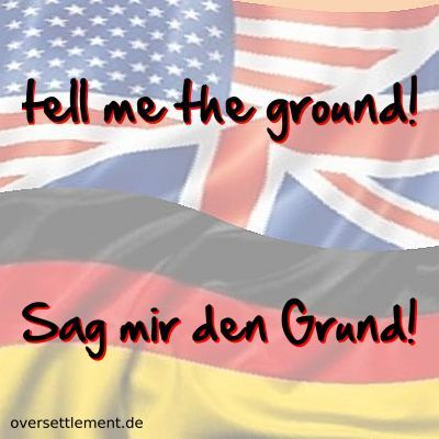 tell me the ground!