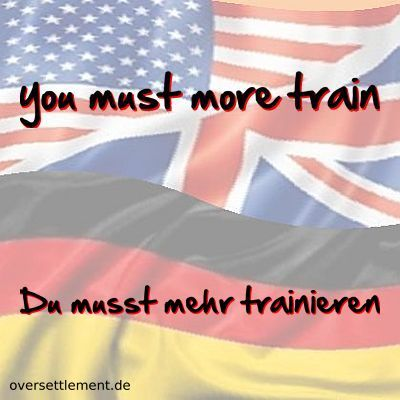 you must more train