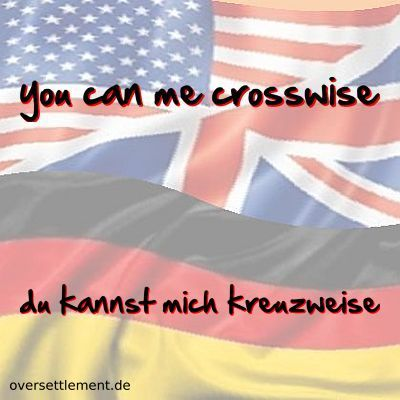 you can me crosswise