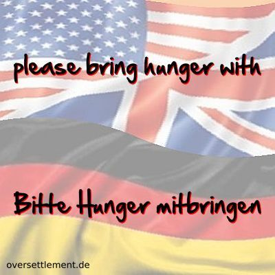 please bring hunger with