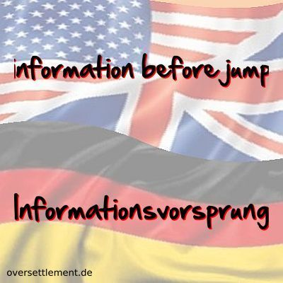 information before jump