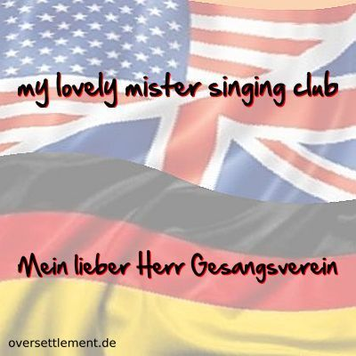 my lovely mister singing club